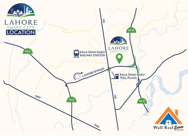 Lahore-Smart-City-Location-Map